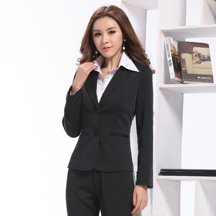 2017 new long-sleeved suits business suit sets of two buckle overalls Ms. OL suit suits