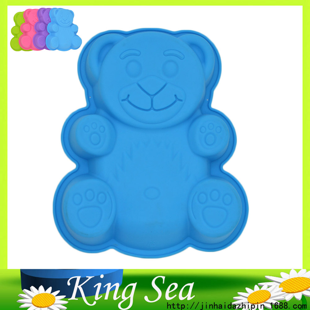 Large Size Cute Bear Shape Silicone Cake Mold Pastry Mould Chocolate Pudding Mould Cooking Cake Baking Tools Bakeware(China (Mainland))