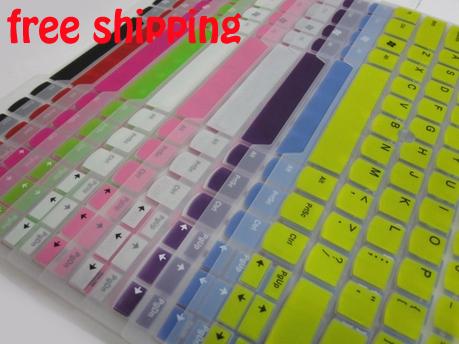 FreeShip 2pcs Colored Silicone Protective US Keyboard Cover Skin for Toshiba C40D L40 S40D L830 L800 M800 M805 C805 M840 P800(China (Mainland))