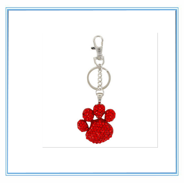 Customized alloy new design dog paw key chain - Yiwu Xpolo Jewelry Factory Retail & Store store