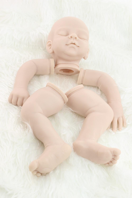 """Suaves Muñecos Bebé Reborn Kit de Silicona de Vinilo de Cabeza de 3/4 Brazos y Las Piernas para 20""""(China (Mainland))"""
