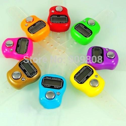 free shipping 200 X Mini Digital Electronic Muslim Finger Ring Tally Counter Tasbeeh Tasbih Golf &Temple Wholesale Low Price(China (Mainland))