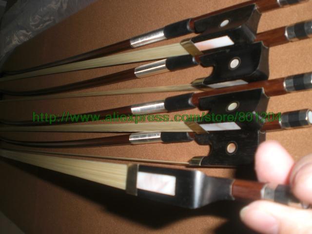 Фотография 3 pcs Student Cello Bow 4/4 with brazilwood and ebony frog