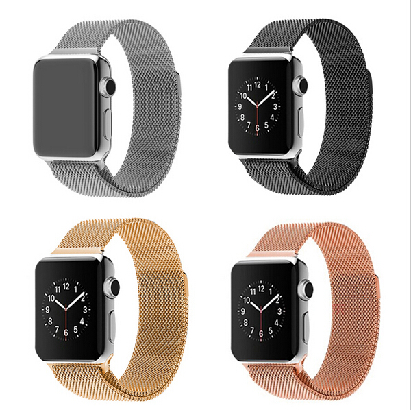 Stainless Steel Watchband Milanese Loop Magnetic Band Bracelet Strap 38mm for Apple Watch Sport Edition(China (Mainland))