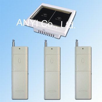 Free Shipping AC100~250 Volt 2 Gang Wireless Remote Control Touch Wall Light Switch Smart Home System LED Indication LCD Display