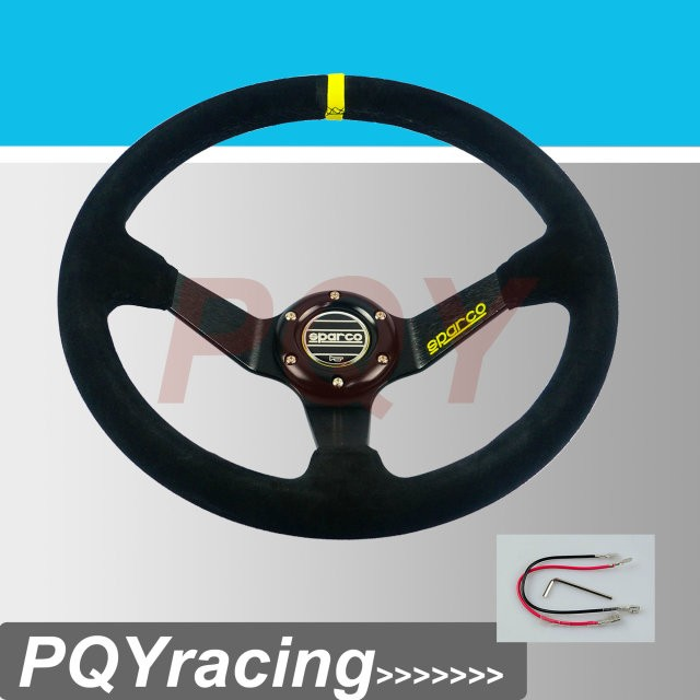 J2 RACING STORE- Neswest SPA Car Steering Wheel Racing Steering Wheel Deep Dish Auto Steering Wheel 350mm Suede Steering Wheel(China (Mainland))