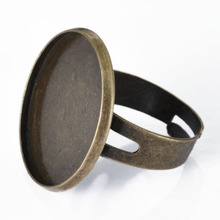 Buy J120063,22mm Antique Bronze Plated Round Blank Tray Ring Setting, bezel ring blanks Cabochons Stickers for $6.38 in AliExpress store