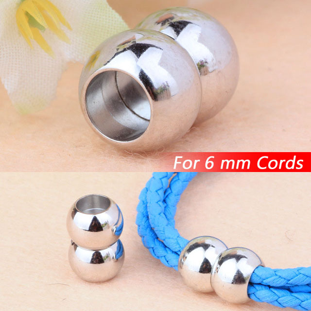 Jewelry Necklace Bracelets Round PlatinumTone Metal End Magnetic Clasps Buckles Fashion For 6mm Leather Cords Ropes Components<br><br>Aliexpress