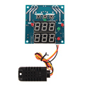 Digital Intelligent Capacitive Temperature Humidity Controller Board AC DC 7V 24V Relay Thermostat Switching Controller