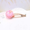 New 1PC Spangle Disco Ball Hair Barrette Glitter Sequin Ball Baby Hair Clip Pink Yellow Toddler