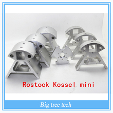 1 Set of All Metal Mounting Frame for 3D Printer Rostock Kossel mini K800 Includes 7Pieces Aluminium Alloy Corner Fittings