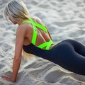 Hot sale Europe America new summer GYM Fitness Clothing Suit For Women Running Tight Jumpsuits Sports