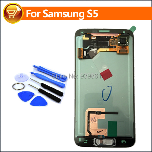 Original LCD For Samsung Galaxy S5 i9600 G900F G900 G900A G900H G900M LCD Display Touch Screen Digitizer With Home Button White(China (Mainland))
