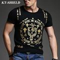 2016 new fashion men printing t shirt men tops short sleeve men slim t shirt luxury