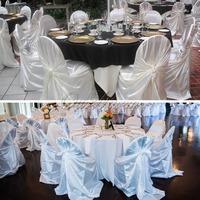 Новый стиль лайкра спандекс стул крышка для свадебного banquet партии декоративных продуктов питания белый/Бежевый/Черный домашний текстиль