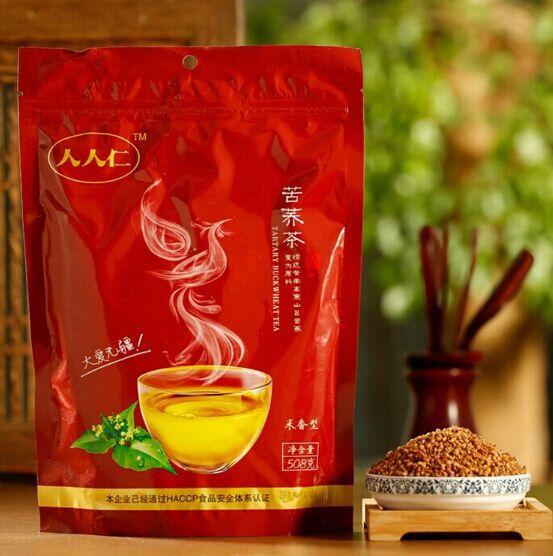 1bag 508g black tartary buckwheat grain tea healthful tea Puffed rice reducing blood glucose(China (Mainland))