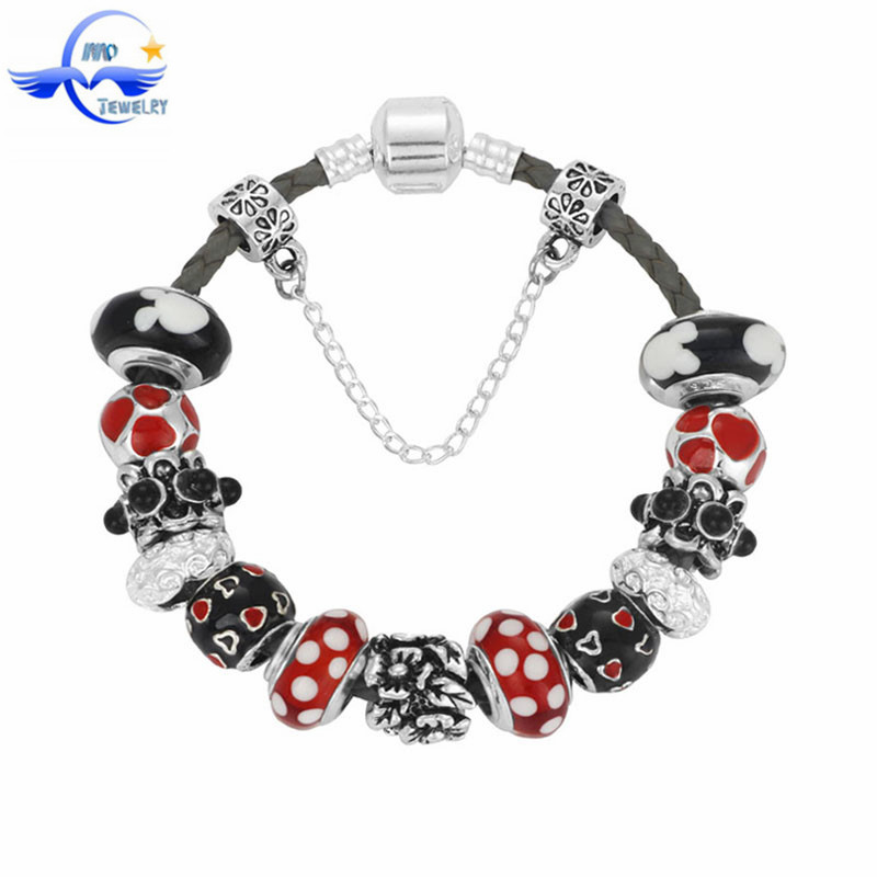 High Quality Charms Murano Glass Beads And Flower Charms Beads Fits European Style Bracelets For Women Fashion Jewelry<br><br>Aliexpress