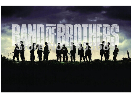 Custom Band of Brothers Pop Retro Stylish Wall Paper Poster Decor Best Nice Wall Sticker 51x77cm FREE SHIPPING DGT-49516(China (Mainland))