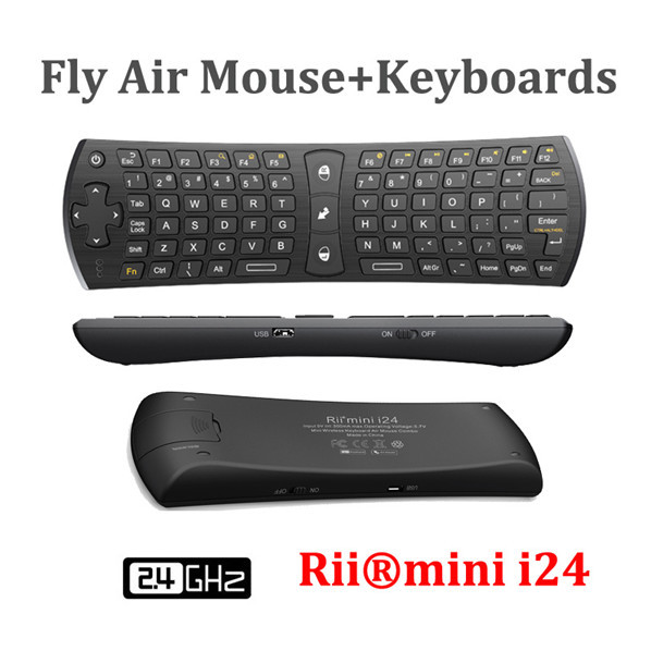 Mini Fly Air Gaming Mouse Keyboard for LG Smart TV, Top Quality 2.4GHz Rii MINI i24 Suporte Notebook Android TV Box(China (Mainland))