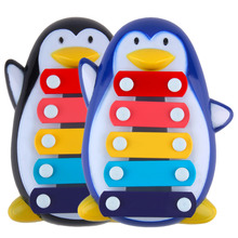 Baby Kid Child 5-Note Xylophone Musical Toy Development Cute Penguin Gift Hot Selling(China (Mainland))