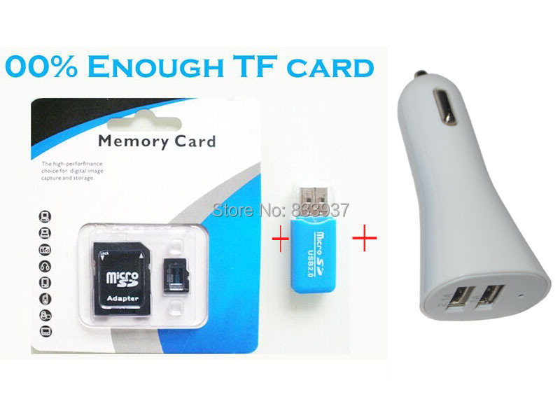 4in1 memory card 4gb 8gb micro sd 16GB 32 GB 64GB class 10 microsd TF Card Car charger Cell phone mp3 C10 - Online Store 833937 store
