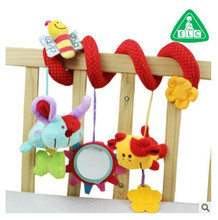 new baby soft toys crib toy animal friends pull ring bed around multifunctional car chair hanging educational rattles plush toys