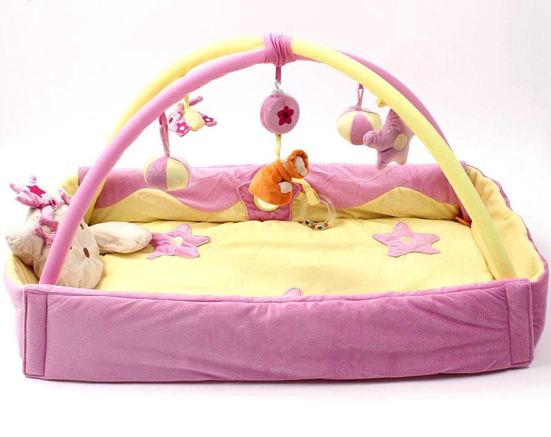 Фотография Khaki Princess Betty Powder Increased Fold Music Baby Game Pad Game Blanket Baby Crawl Crawl Mat Carpet Baby Travel Bed