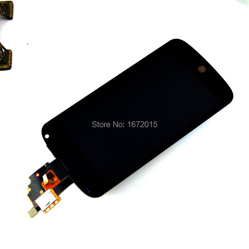 Черный для lg google nexus 4 e960 жк-дисплей + сенсорный экран с цифрователем монтажный комплект + открытая инструмент