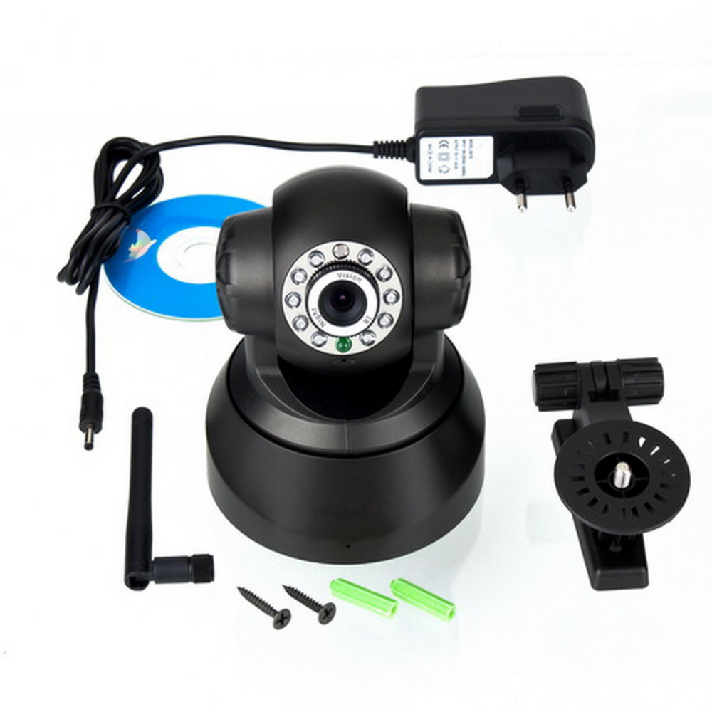 1set Wireless WiFi IP network connection Webcam CMOS Camera monitor Night Vision 11 LED Brand New(China (Mainland))