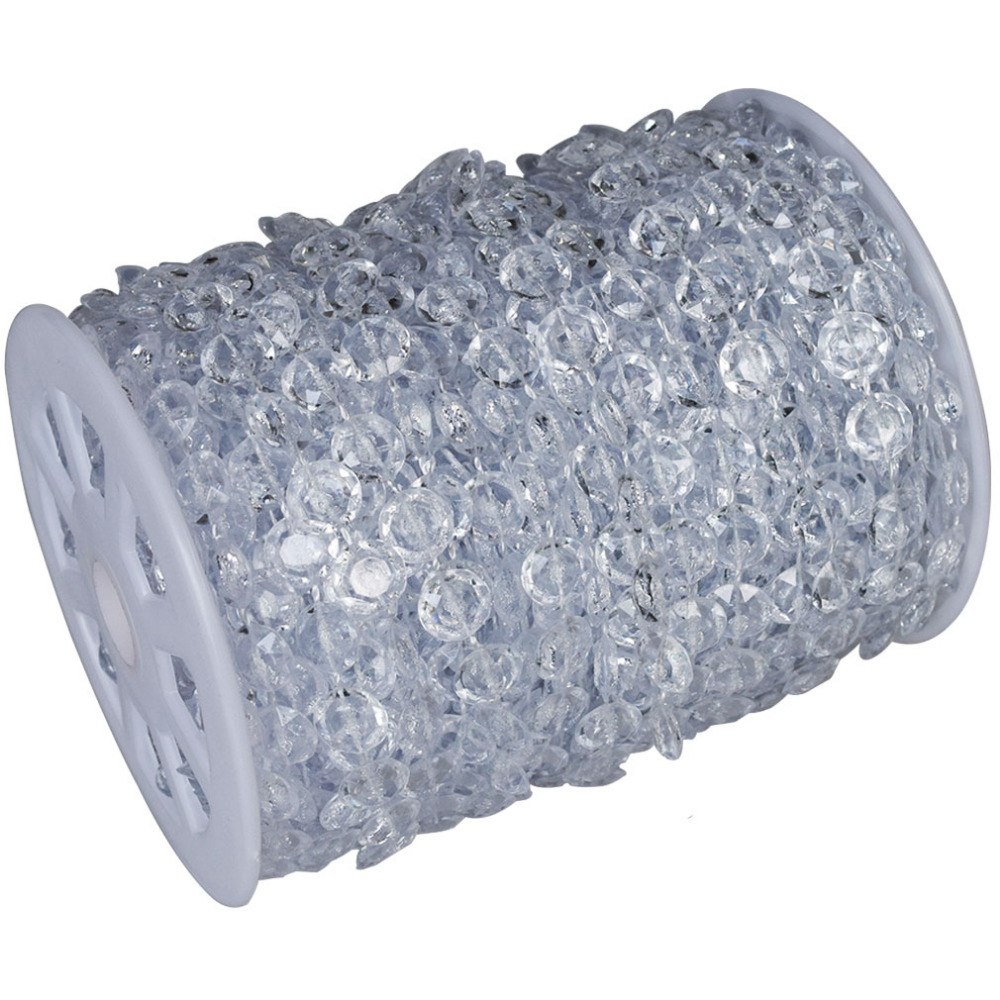 99 FT Garland Diamond Strand Acrylic Crystal Bead Wedding Decoration In Event Amp Party Supplies
