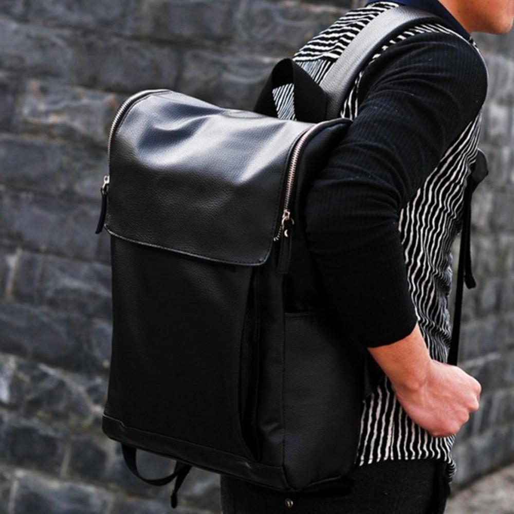 Soft Leather Woman Man Backpack Vintage High Quality Duffel Bag Black Men Shoulder Satchel Casual Men Laptop School Rucksack