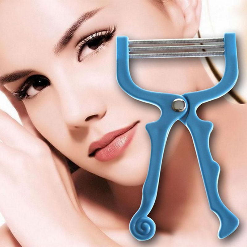 Handheld Facial Hair Removal Threading Spring Rolled Face Beauty Epilator Tools Portable Shavers Make Up Face Care Massager
