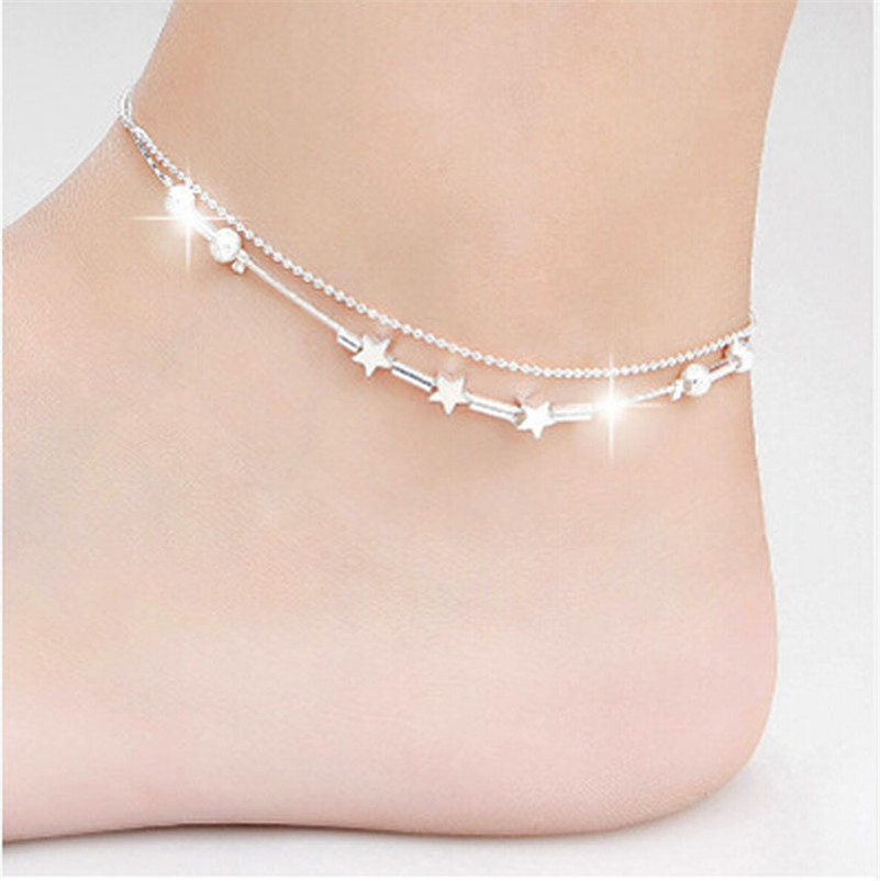 Fashion Dolphin Fish Heart Hot Girls Handmade Sexy Women Chain Anklet Bracelet Barefoot Sandal Beach Foot