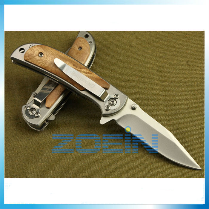BROWNING Classics Folding Blade Knife Tactical Knife White Wood Handle Camping Knives Steel Blade 21cm Multifunctional Tools(China (Mainland))