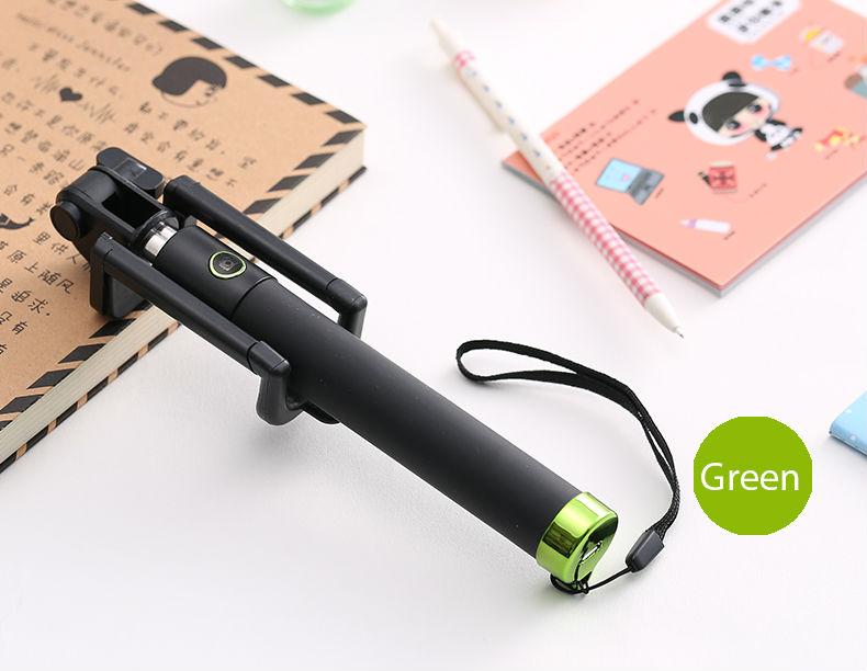 image for Universal Bluetooth Selfie Stick Monopod All-in-one Wireless Selfie Fo