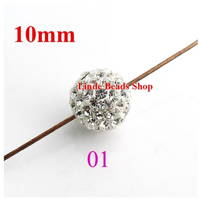 10mm Shamballa Beads christmas ornaments Clay Crystal shamballa finding ball beads crystal clear SH10001