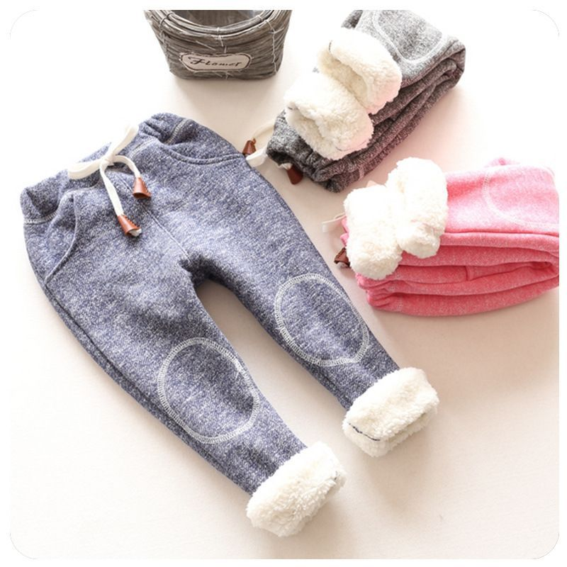 new 2016 autumn children casual trousers baby girls plus thick velvet pants kids girl winter warm tracksuit pants(China (Mainland))
