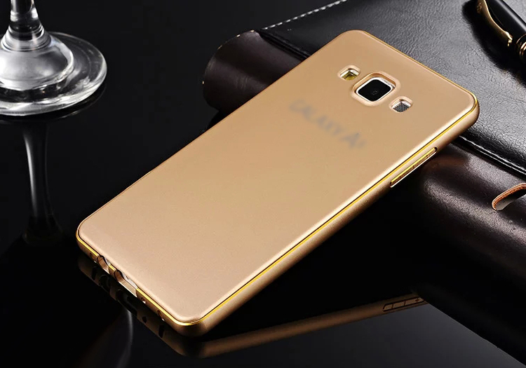 Phone Cases For Samsung Galaxy A3 A5 A7 Luxury Aluminum Frame Plastic Back Cover Case for
