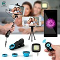 Selfie Stick Set Bluetooth Shutter Brighter LED Mobile Stand Camera Lens Fisheye macro wide angle lens