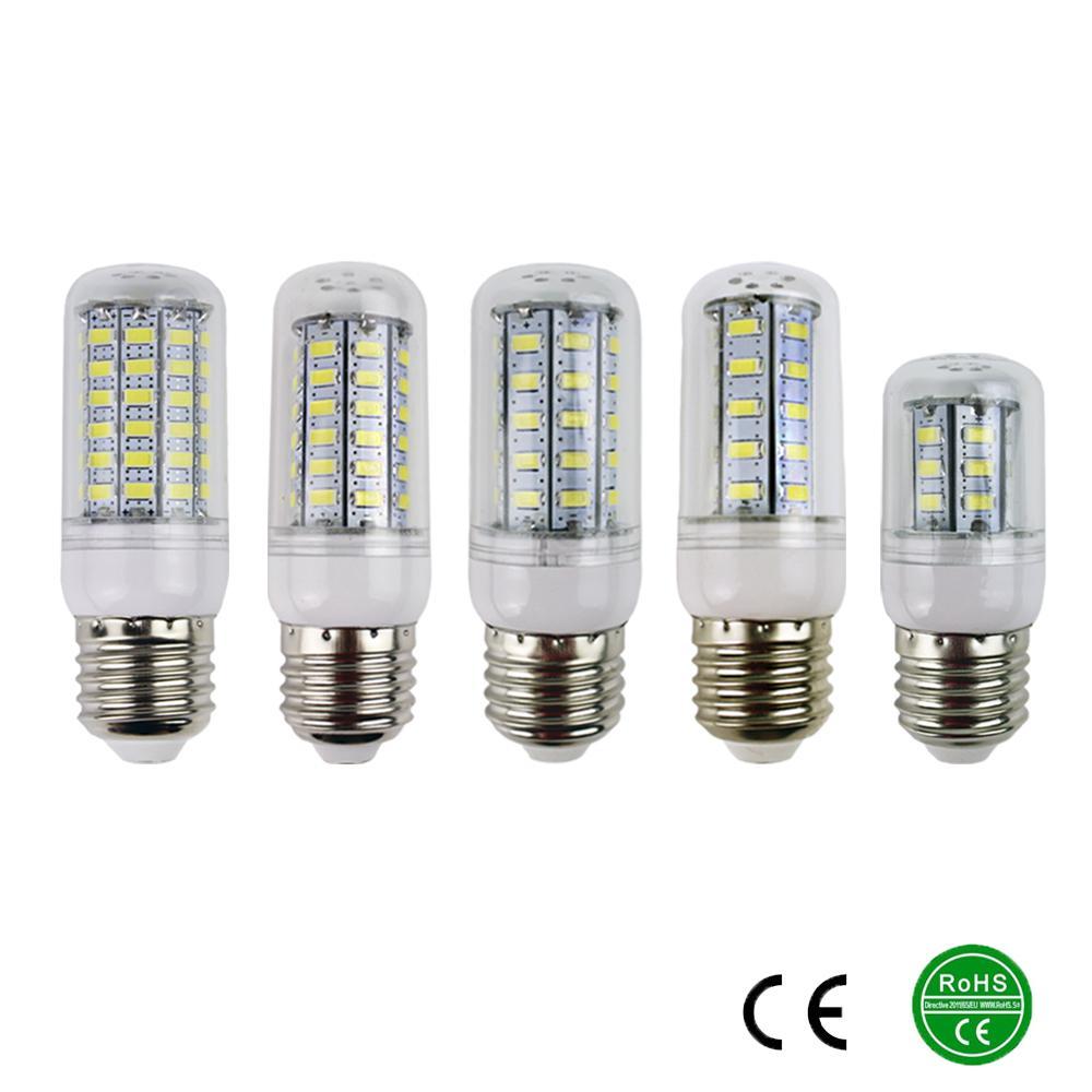 E27 5730 Led Lamps 220V 230V 240V 7W 12W 15W 18W 20W LED Lights Corn Led Bulb Christmas Chandelier Candle Lighting 360 degree(China (Mainland))