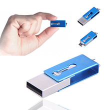 High quality Metallic Mirco OTG USB flash drive 16gb for OTG function Android Smartphone mini usb stick memory drive