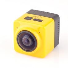 2016 New Arrival CUBE 360 Mini Sports Action Camera 720P 360 degree Panoramic VR Camera Build-in WiFi Mini Ultra Life DV