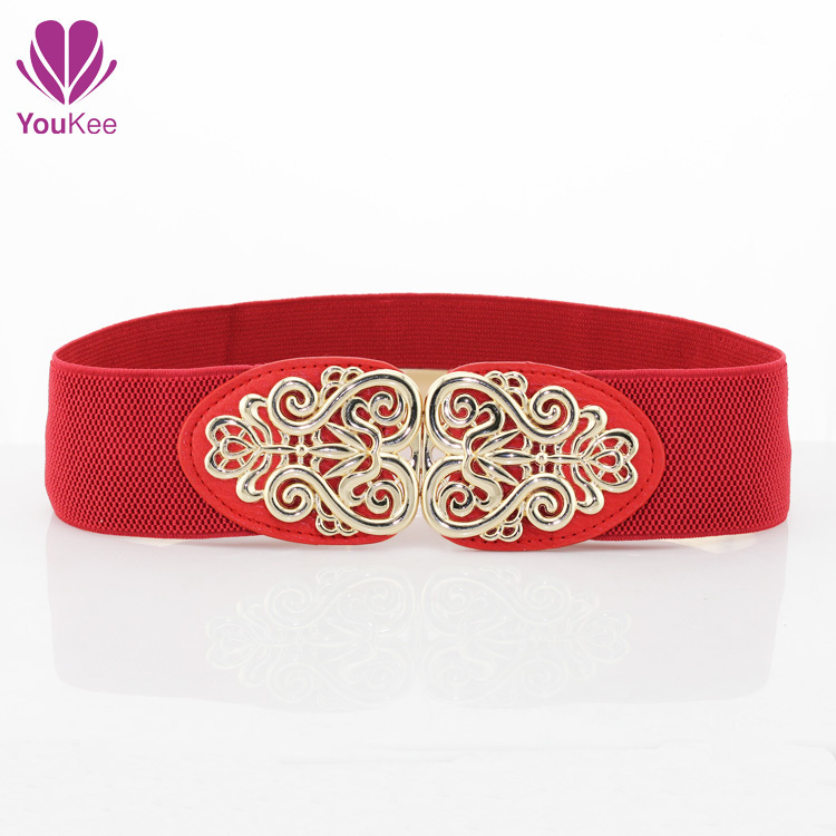 2014 fashion cummerbunds wide elastic designer women's Belts casual dress Decorative five colors hollow waist belt women - YouKee Jewelry store