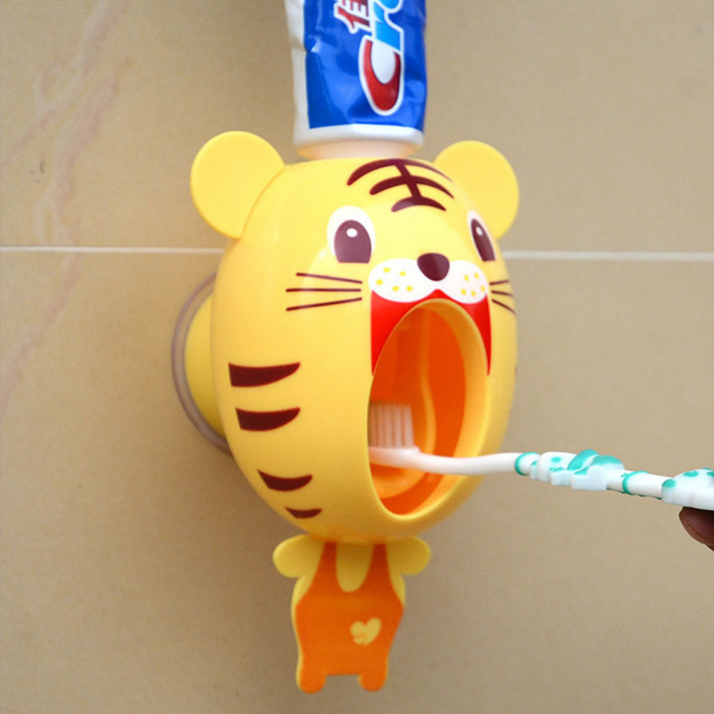 Baby Care Grooming & Healthcare Kits Design Bathroom Cartoon Automatic Toothpaste Dispenser