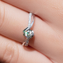 FREESHIPPING CPP 0.2 TOTAL CARAT 100% NATURAL DIAMOND 14K 585 WHITE GOLD ENGAGEMENT RING FOR WOMEN(China (Mainland))