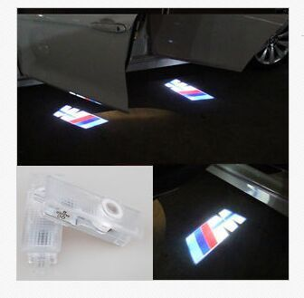 2 LED Car door courtesy laser projector Logo Ghost Shadow Light For BMW M power(China (Mainland))