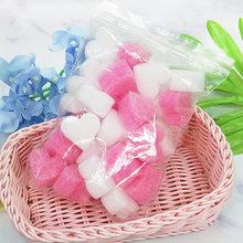 50pcs/bag Gift Box Fluffy Slime Filler Sludge Clay Pink Heart Love Beads Foam Strip Slime DIY Wedding Favors Flower Box Filler(China)