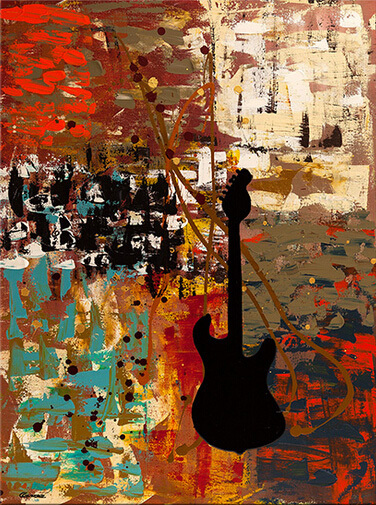 Special Design High Quality Support Base No Smell Oil Medium Hand Paint Abstract Guitar Canvas Oil Picture for Wall Decoration(China (Mainland))