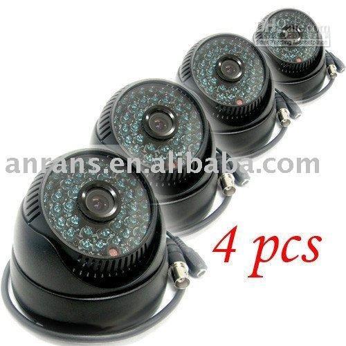1/3 SONY CCD Camera 420TVL kelisha 4pcs free shipping 1/3 CCD 48 LEDs IR CCTV Black Dome Camera 3.6mm camera(China (Mainland))