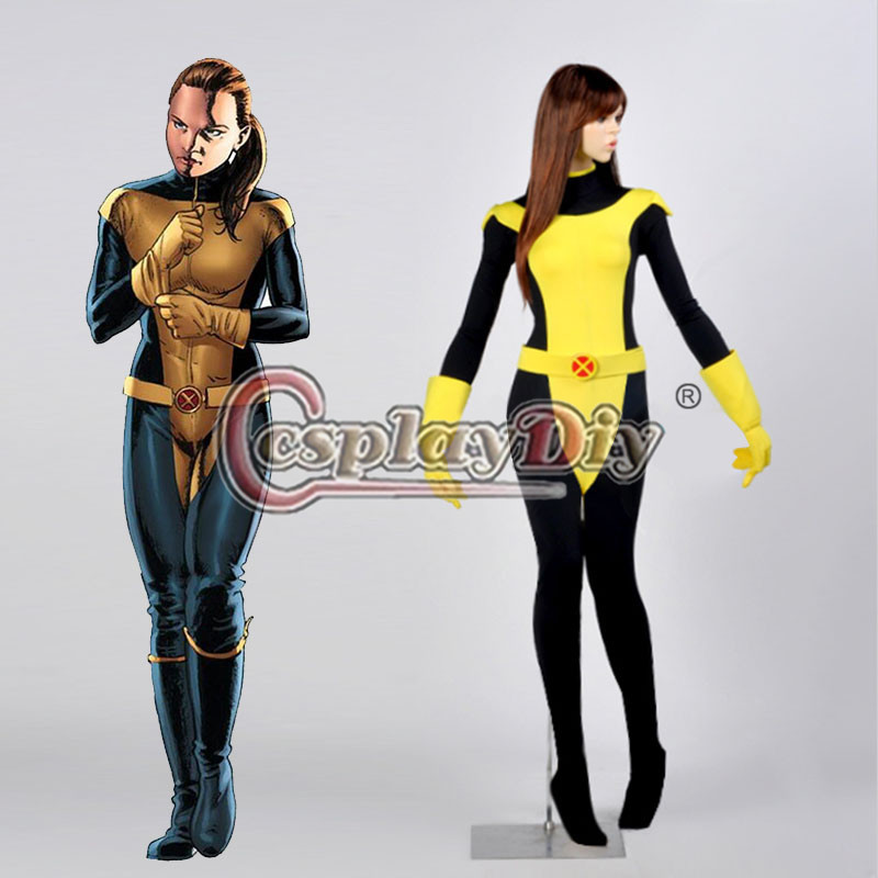 X-Men Kitty Pryde Cosplay Costume Adult Womens Carnival Party Version 01 Custom Made D0824Одежда и ак�е��уары<br><br><br>Aliexpress